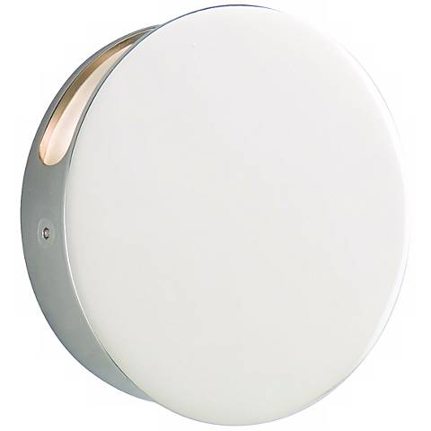 "CSL Disc Single Polished Nickel 4 3/4"" Wide LED Wall Light"