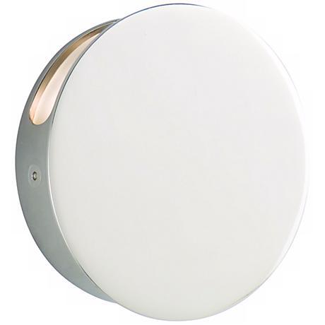 "CSL Disc Single Polished Nickel 4 3/4"" Wide LED Wall Light"
