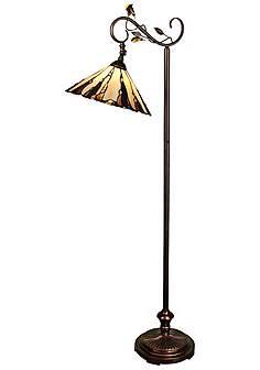 Floor Lamps Tiffany: Dale Tiffany Crystal Leaf Downbridge Floor Lamp,Lighting