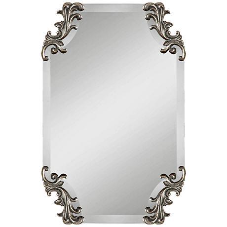 "Andretta Antiqued Silver 19 1/4"" x 29 1/4"" Wall Mirror"