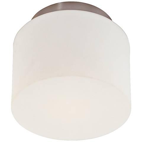 "Sonneman Drum 8"" Wide Satin Nickel Ceiling Light"