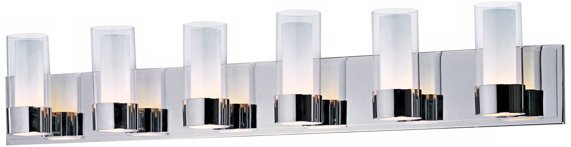 Maxim Silo Polished Chrome 6 Light Bathroom Light Fixture