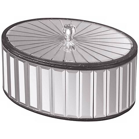 Uttermost Alanna Mirrored Metal Oval Box