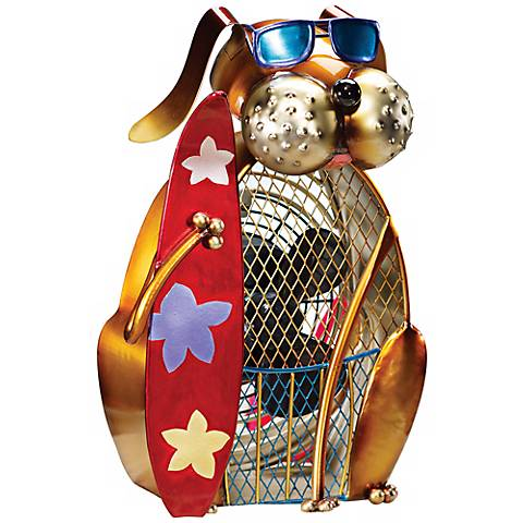 Dog Duke Figurine Decorative Desk Fan