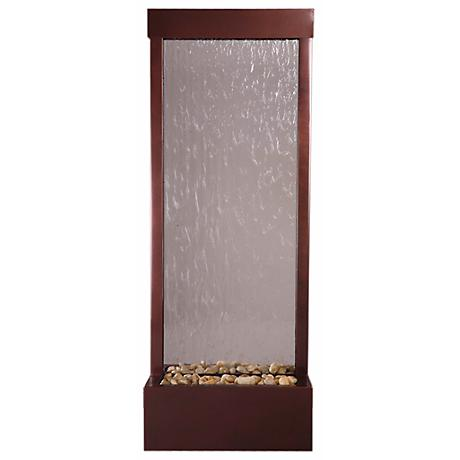 """Gardenfall Glass and Copper 48"""" High Indoor/Outdoor Fountain"""