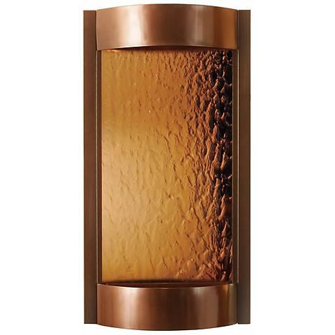 Contempo Solare Bronze Mirror & Copper Indoor Wall Fountain
