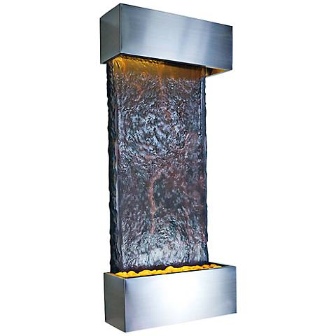"Nojoqui Falls Medium Stainless 42 1/2""H Indoor Wall Fountain"