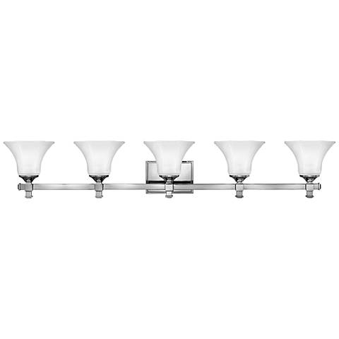 "Hinkley Abbie 43 3/4"" Wide Chrome Bathroom Light"