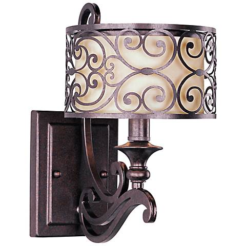 "Maxim Mondrian Bronze 12"" High Wall Sconce"