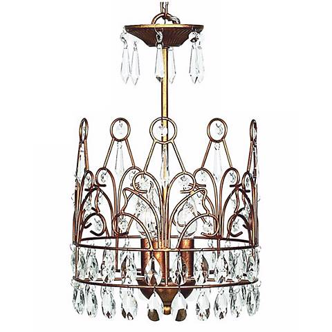 Gold Crown 3-Light Chandelier
