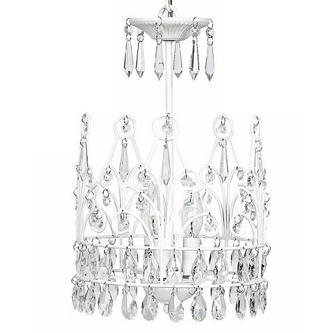 White Crown 3-Light Chandelier