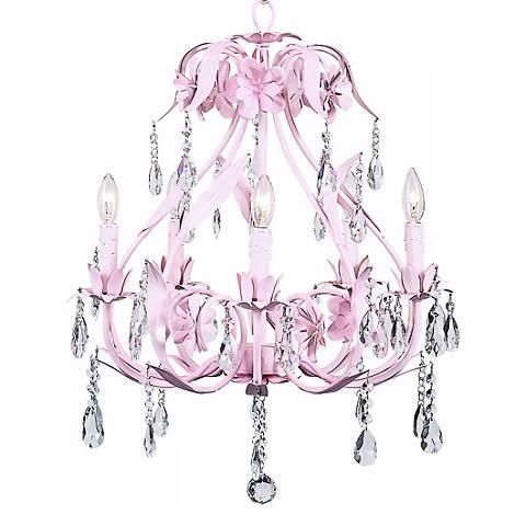 Pink Cinderella 5-Light Chandelier