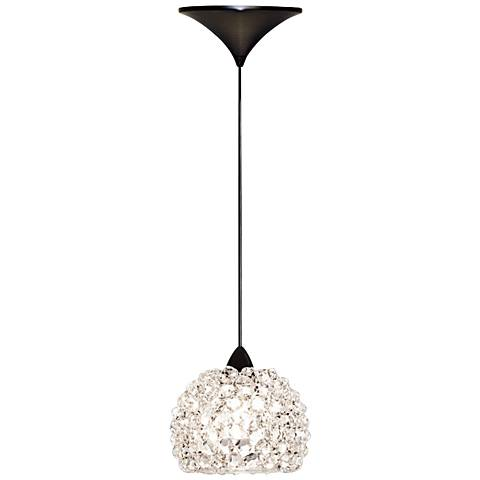 "WAC Gia 4 1/2"" Wide White Diamond Dome LED Mini Pendant"