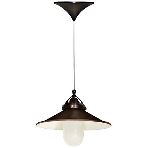 "WAC Freeport 9 1/2"" Wide LED Dark Bronze Mini Pendant"