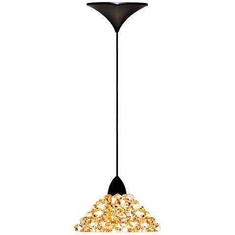 "WAC Giselle 5 1/2""W LED Champagne Diamond Mini Pendant"