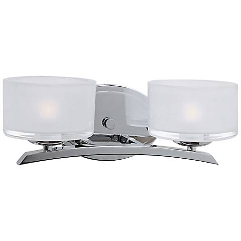 Maxim Elle Collection Chrome 2 Light Wall Sconce