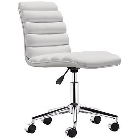 Zuo Admire White Office Chair