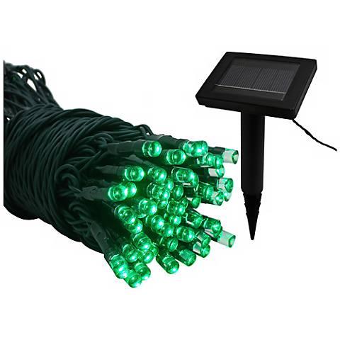 Solar Powered 22 Foot Long Green LED String Lights