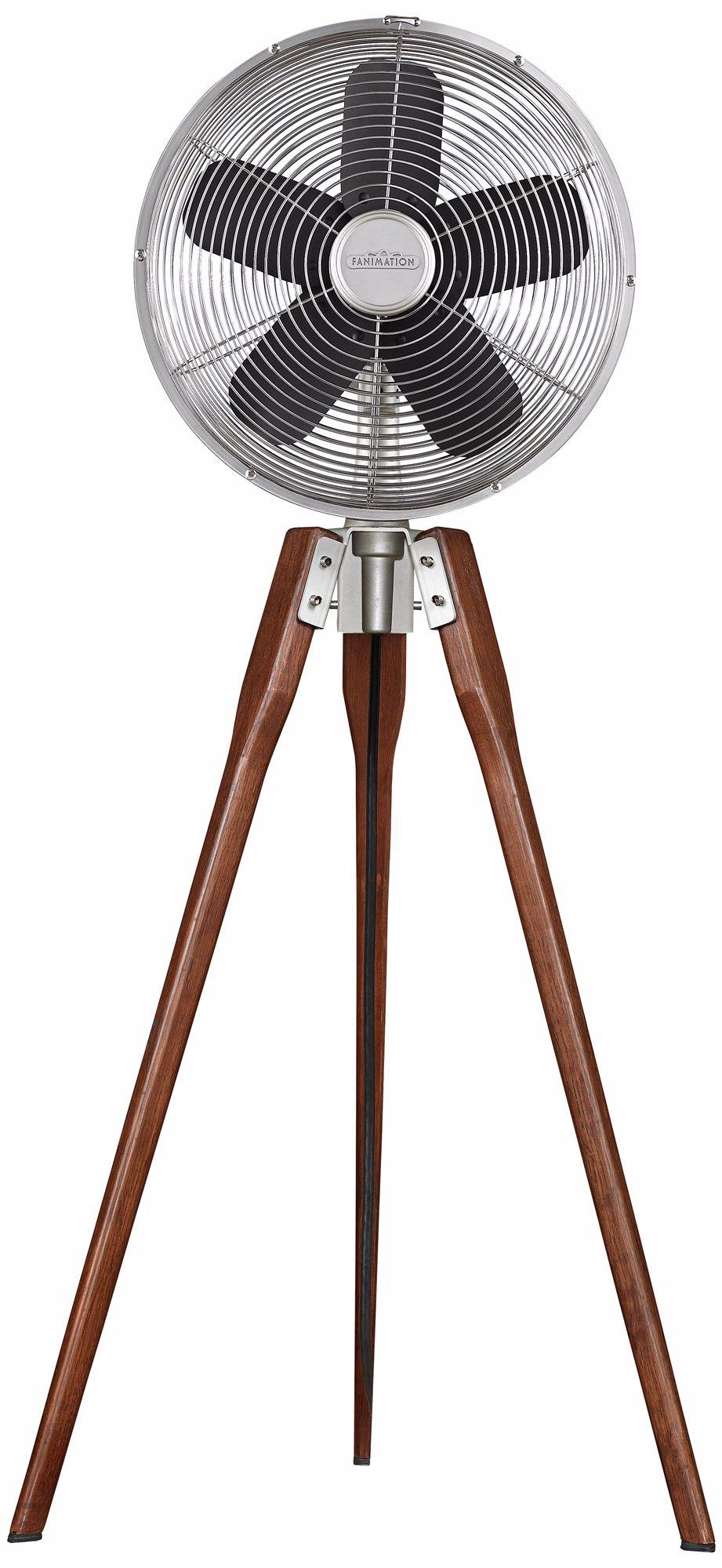 Nice Fanimation Arden Satin Nickel Tripod Floor Fan