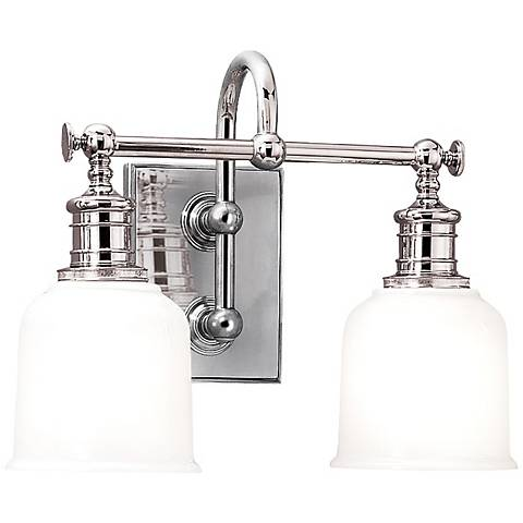 "Hudson Valley Keswick 13 1/2"" Wide Chrome Bath Light"