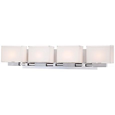 kovacs cubism 29 1 2 wide chrome bath light t3184 lamps plus. Black Bedroom Furniture Sets. Home Design Ideas