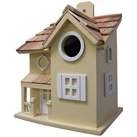 Nestling Cottage Yellow Birdhouse