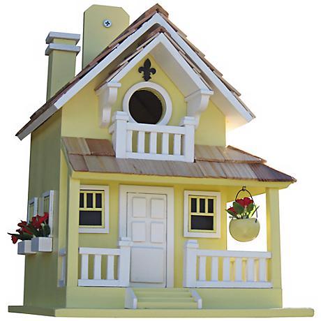 Backyard Bird Cottage Yellow Birdhouse