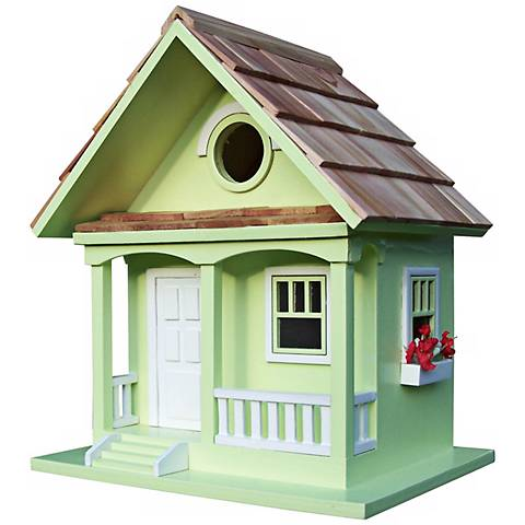 Forest Bungalow Cottage Key Lime Birdhouse