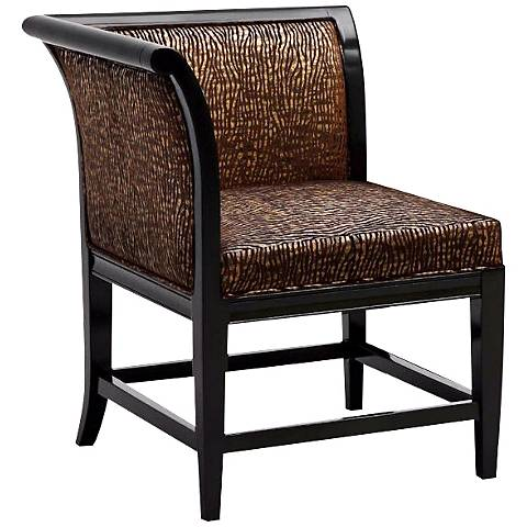 Iridescent Zebra Vaughn Corner Chair
