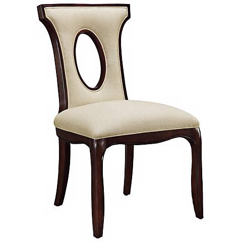 Blakemore Ecru Linen Side Chair