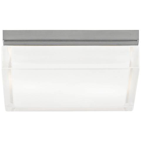 """Tech Lighting Boxie 9""""W LED Frost Glass Ceiling Light"""