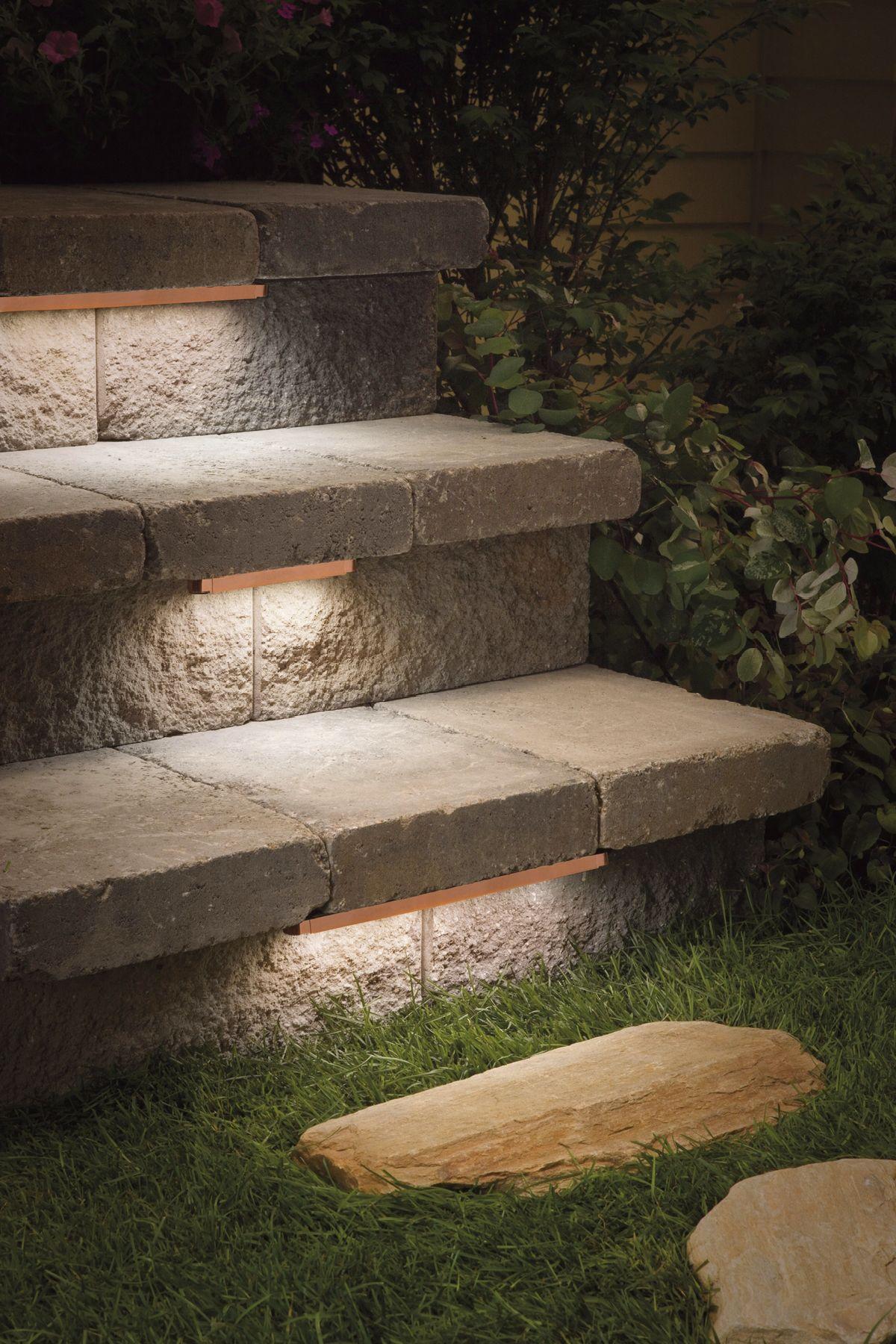 Kichler Bronze 6-LED Hardscape Deck Step and Bench Light  sc 1 st  L&s Plus & Kichler Low Voltage Landscape Lighting | Lamps Plus azcodes.com