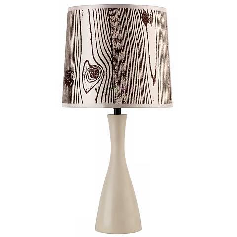 Lights Up! Faux Bois Shade Soy Finish Oscar Table Lamp