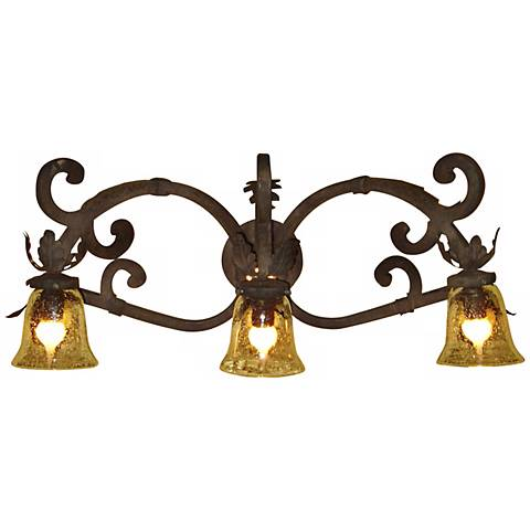 "Laura Lee Verona Triple Arm 32"" Wide Bath Wall Light"
