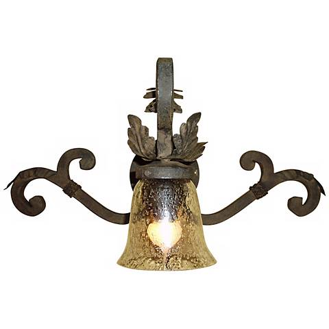 "Laura Lee Verona 22"" Wide  Wrought Iron Wall Sconce"