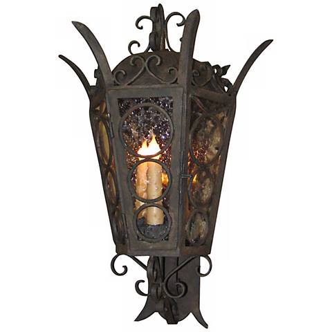 "Laura lee Amsterdam Large 28"" High Outdoor Wall Lantern"