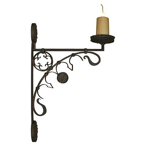 "Laura Lee Medieval 29"" High Wall Sconce"