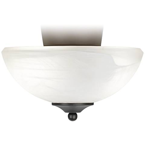 Pull Chain Bronze Alabaster  Fan Light Kit