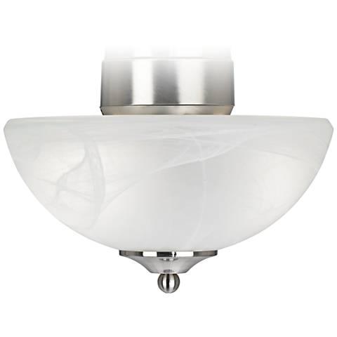 ENERGY STAR® Pull Chain Brushed Steel Alabaster Light Kit