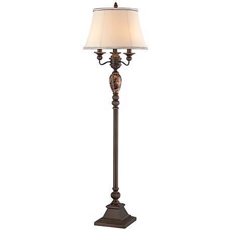 kathy ireland mulholland 4 light floor lamp t4202. Black Bedroom Furniture Sets. Home Design Ideas