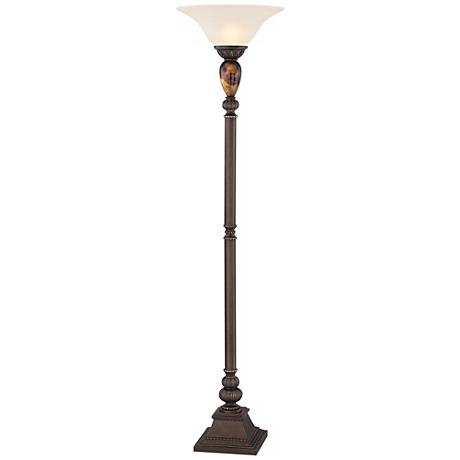 Modern torchiere floor lamps lamps plus for Modern torch floor lamp