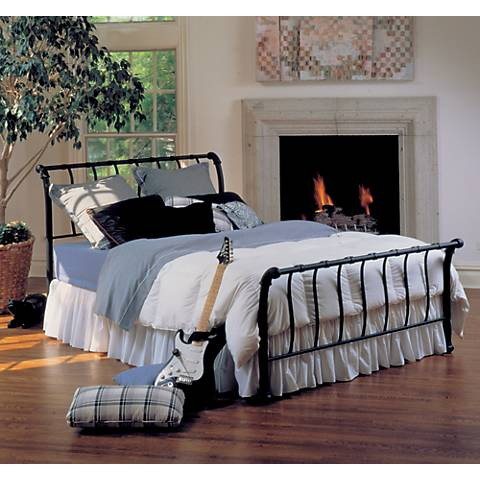 Hillsdale Janis Textured Black Bed