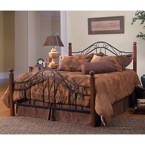 Hillsdale Madison Cherry Wood with Black Bed