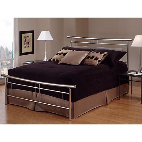 Hillsdale Soho Brushed Nickel Bed