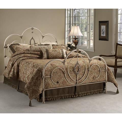 Hillsdale Victoria Antique White Bed