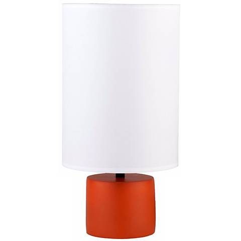 "Lights Up! 18"" high Devo Round Carrot Accent Table Lamp"