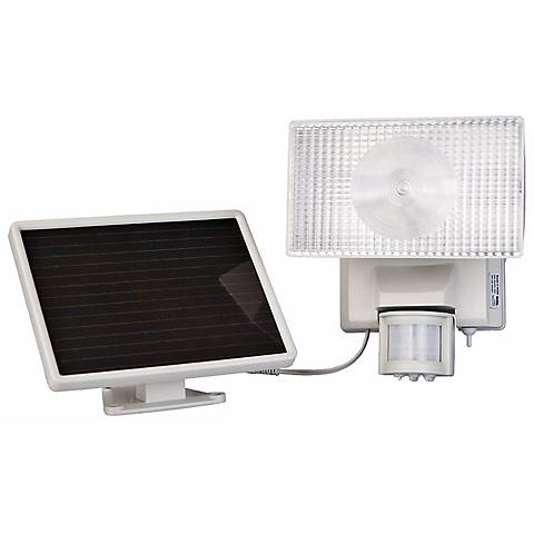 White Solar Power Motion Activated 50 LED Floodlight