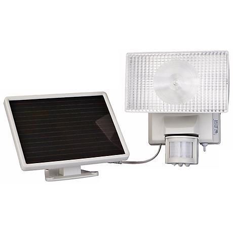 White Solar Power Motion Activated 50 LED Floodlight