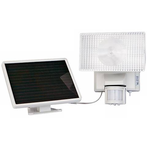 solar power motion activated 30w halogen security. Black Bedroom Furniture Sets. Home Design Ideas