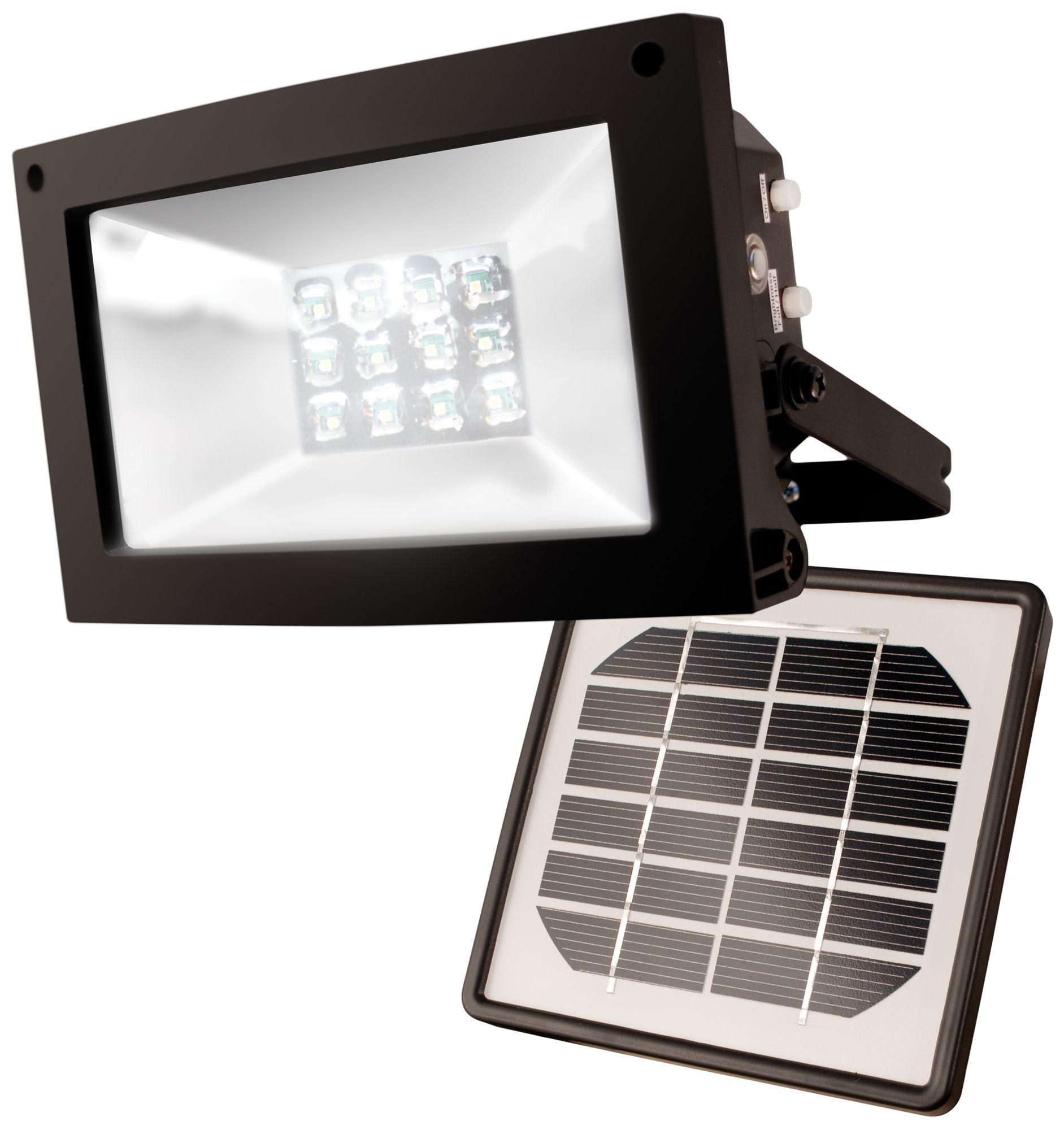 Super Bright 12-LED Dusk-Dawn Solar Powered Flood Light  sc 1 st  L&s Plus & Solar Outdoor Lighting | Lamps Plus azcodes.com